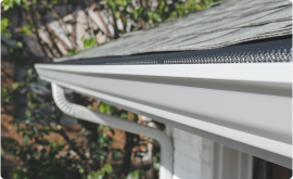 a newly installed gutter system