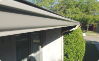 A completed home gutter installation